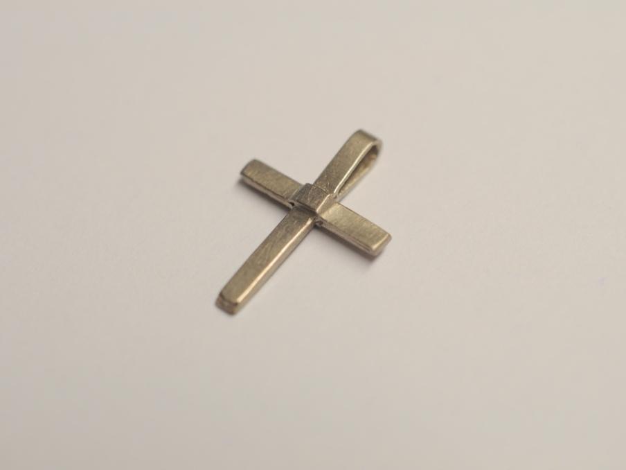 Kreuzanhänger  Kreuz Anhänger aus 585 Weißgold zur Taufe, Geburt oder Kommunion